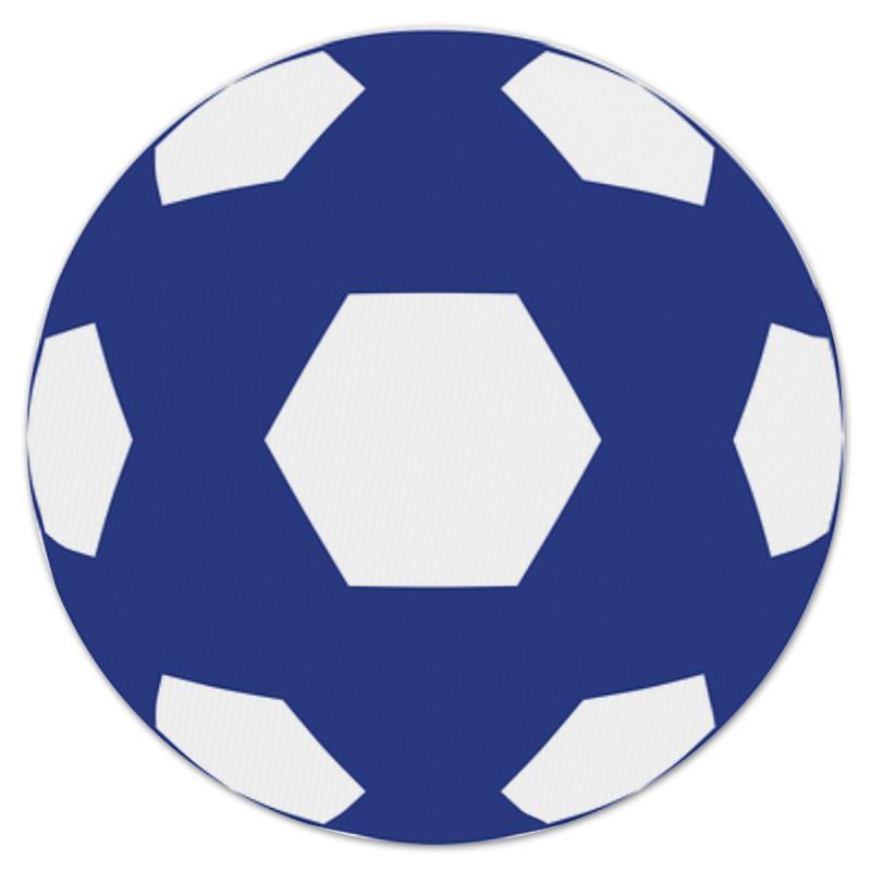 Коврик для мышки (круглый) Printio Синий мяч цена