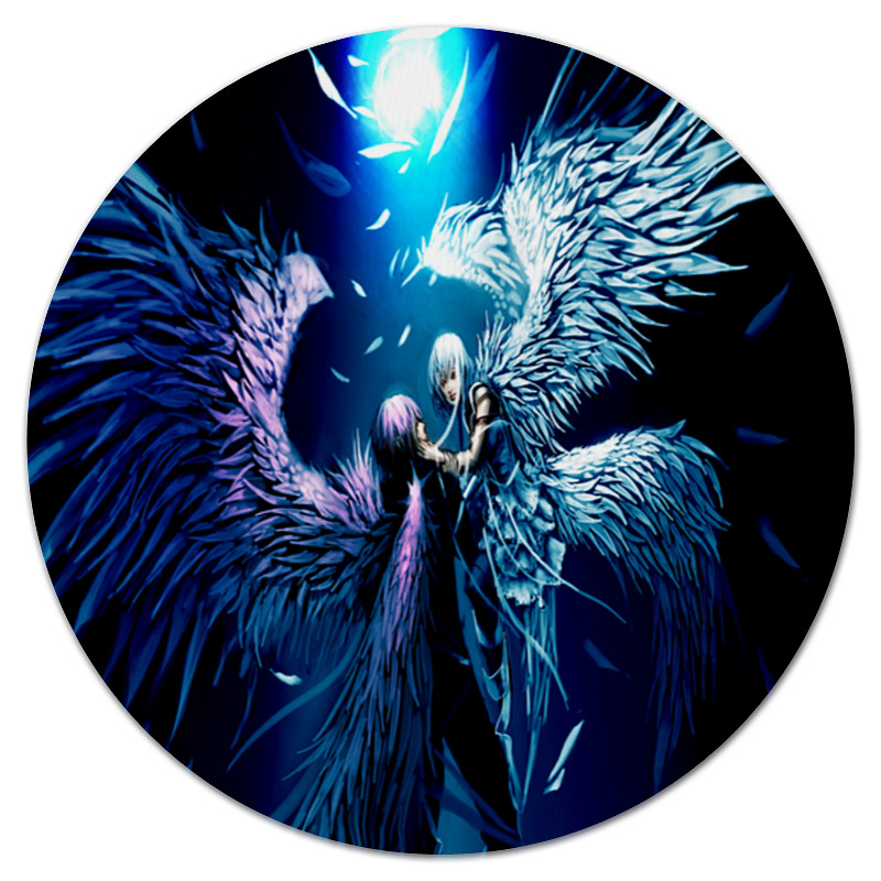 Коврик для мышки (круглый) Printio Ангелы