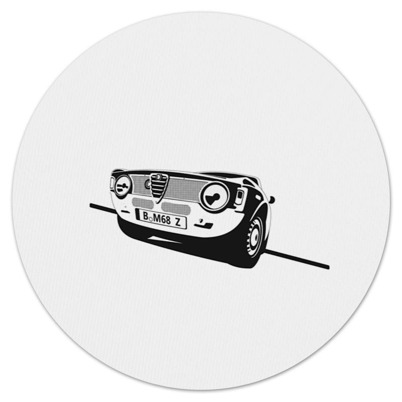 Коврик для мышки (круглый) Printio Retro alfa romeo racing