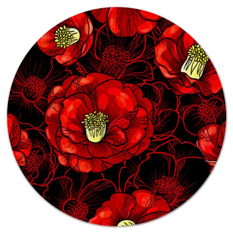 Коврик для мышки (круглый) Printio Цветы мака коврик для мышки printio цветы мака