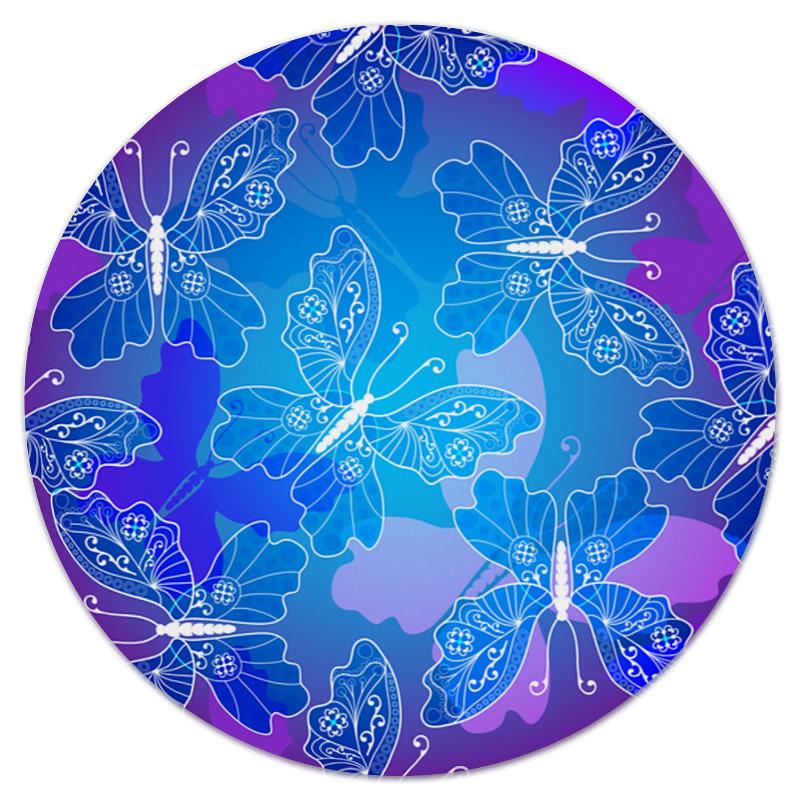 Коврик для мышки (круглый) Printio Полет бабочек