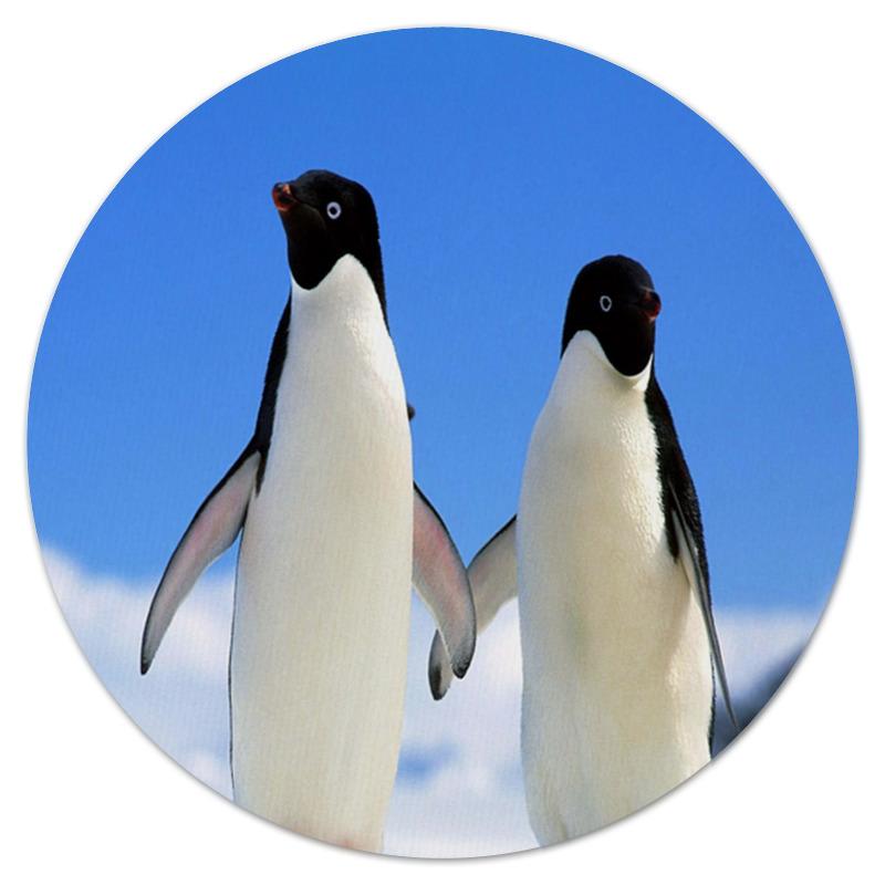 Коврик для мышки (круглый) Printio Пингвины