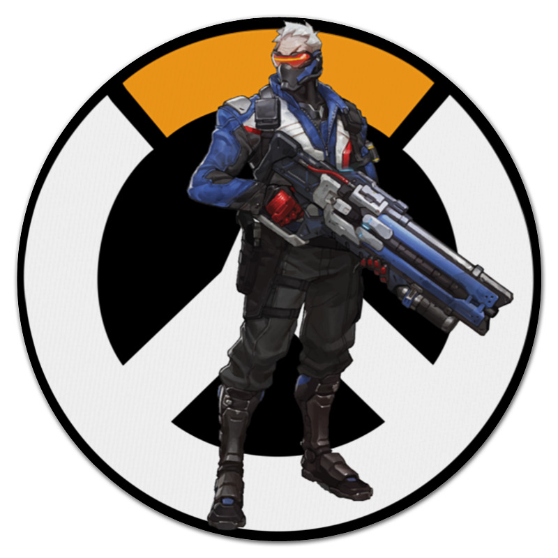 Коврик для мышки (круглый) Printio Overwatch soldier 76 / овервотч солдат 76
