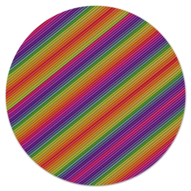 Коврик для мышки (круглый) Printio Линии радуги коврик для мышки printio радужные линии