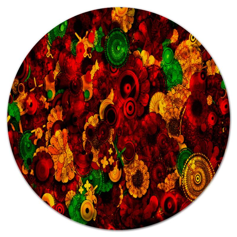 Коврик для мышки (круглый) Printio Цветочная поляна обложка для паспорта printio цветочная поляна
