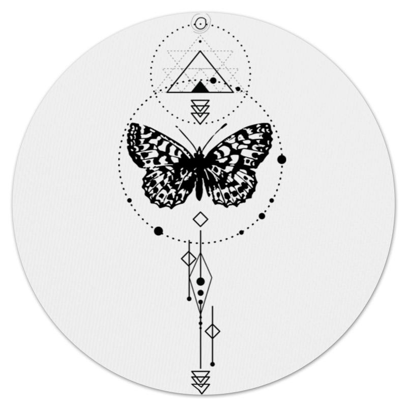 Коврик для мышки (круглый) Printio Круглый butterfly abstract geometry цена