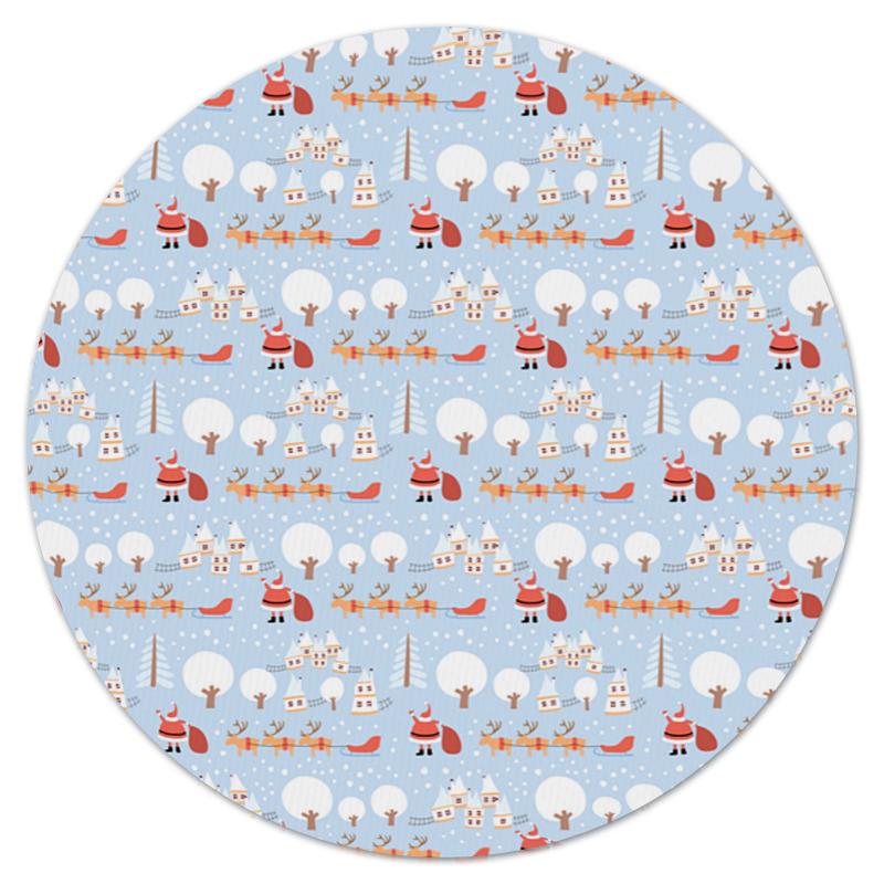 Коврик для мышки (круглый) Printio Снежный пейзаж