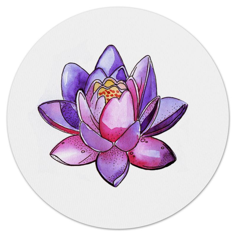 Коврик для мышки (круглый) Printio Лотос home religion цветок 16 см лотос 58013900