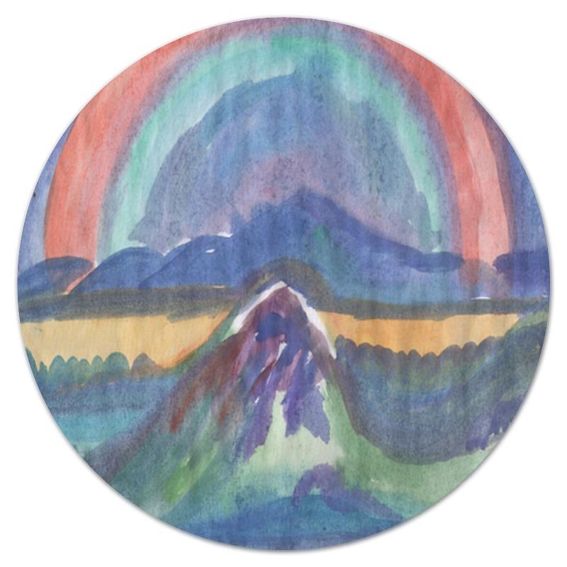 Коврик для мышки (круглый) Printio Круглый радуга в горах