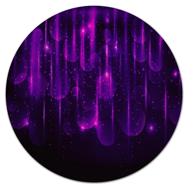 Коврик для мышки (круглый) Printio Фиолетовые вспышки цена