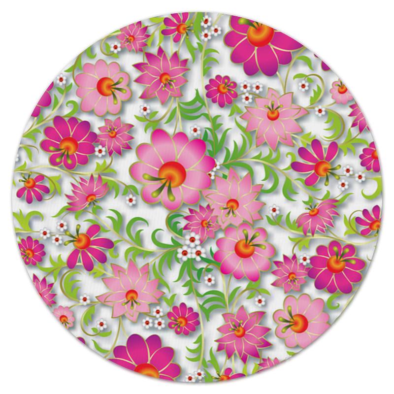 Коврик для мышки (круглый) Printio Розовые цветы коврик для мышки printio цветы мака