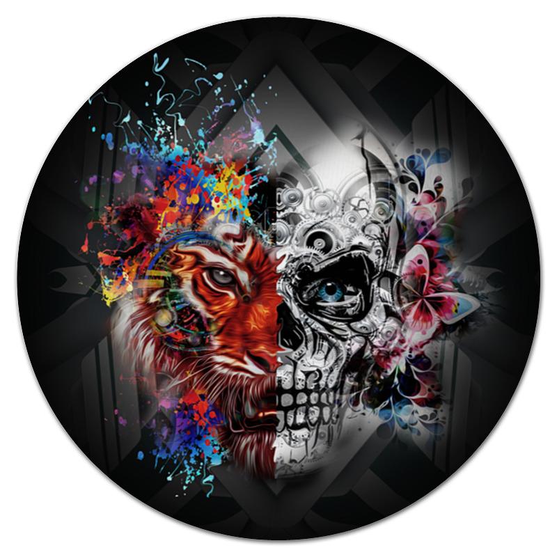 Printio Тигр и череп коврик для мышки printio череп и роза