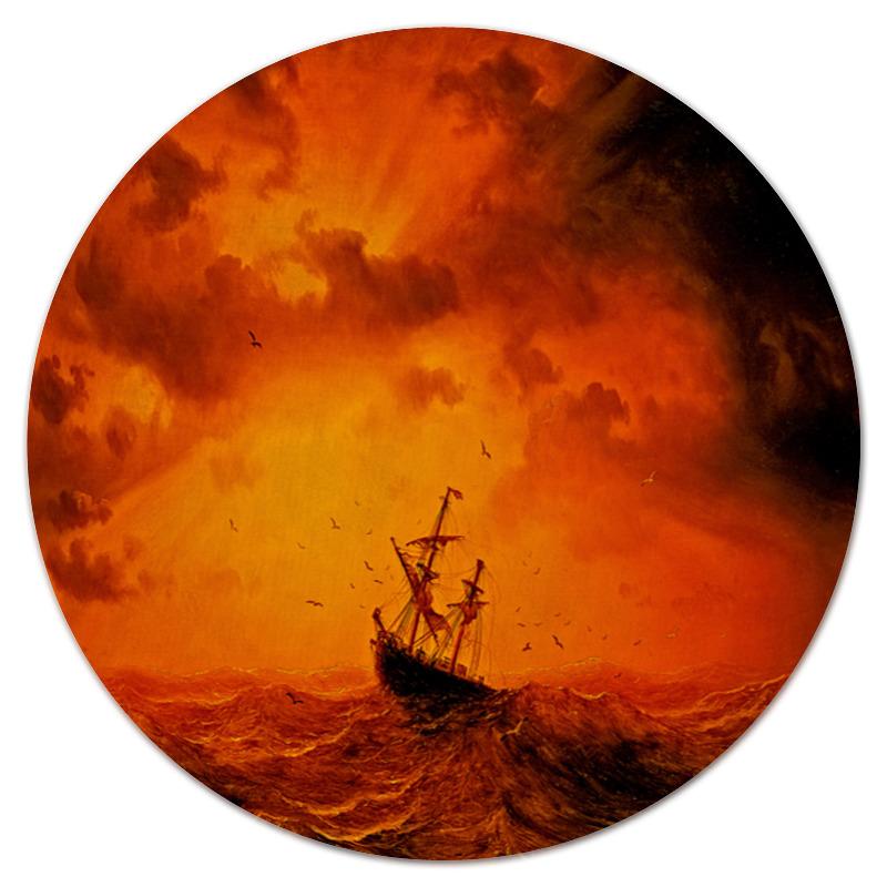 Коврик для мышки (круглый) Printio Шторм костюм ветровлагозащитный восток шторм
