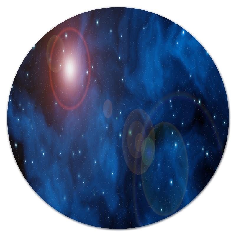 Коврик для мышки (круглый) Printio Вспышки в космосе