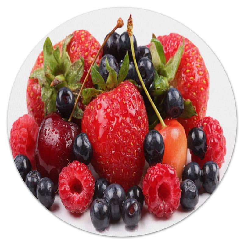 Коврик для мышки (круглый) Printio Ягодки бусы из хрусталя ягодки