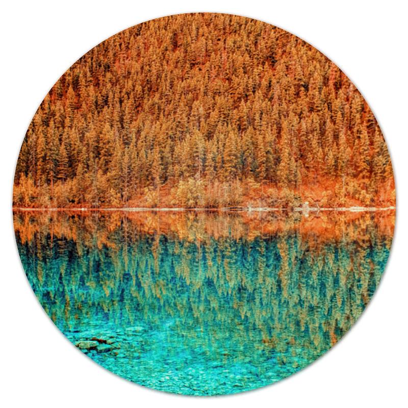 коврик для мышки круглый printio горы и лес Коврик для мышки (круглый) Printio Лес и вода