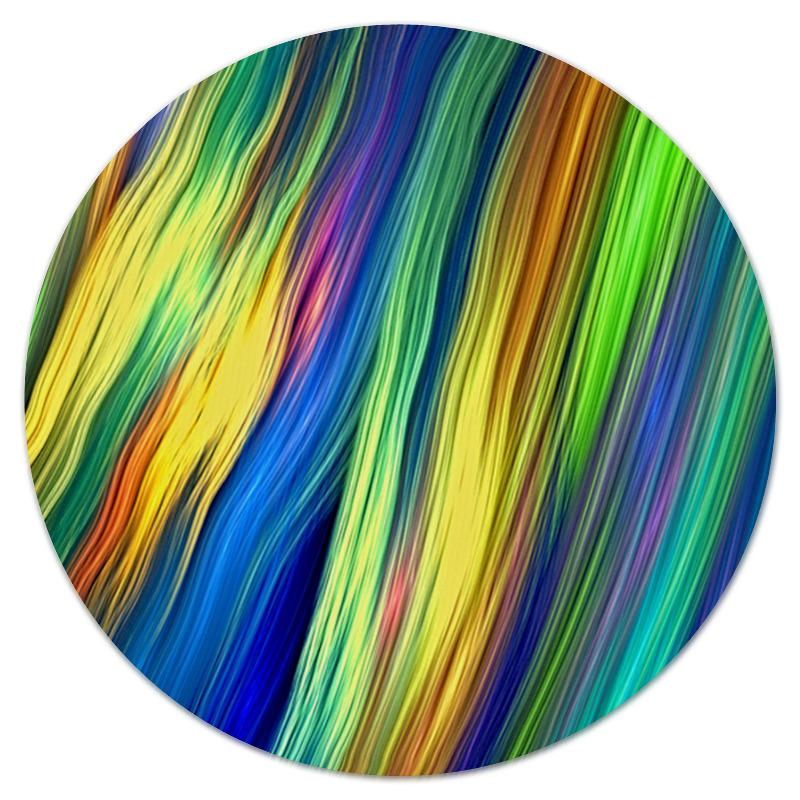 Коврик для мышки (круглый) Printio Радужные линии коврик для мышки printio радужные линии