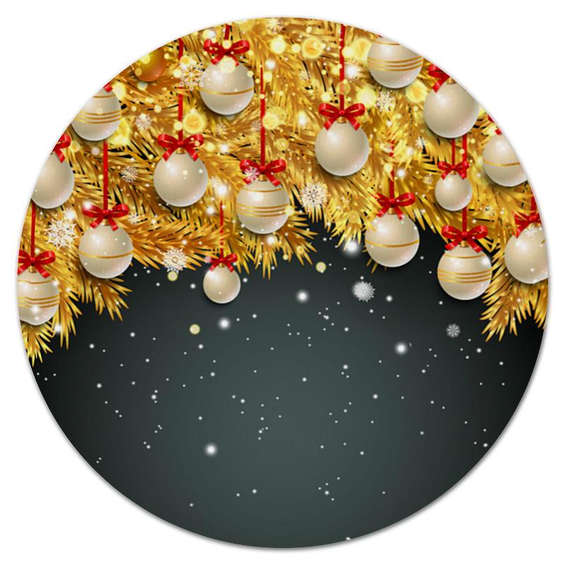 Коврик для мышки (круглый) Printio Новогодние украшения