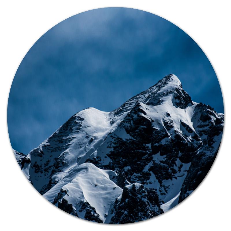 Коврик для мышки (круглый) Printio Снег в горах коврик для мышки круглый printio волк в горах