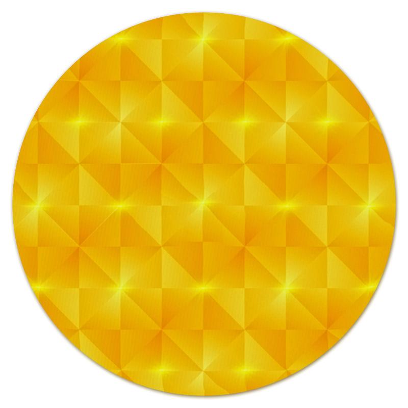 Коврик для мышки (круглый) Printio Желтые квадраты