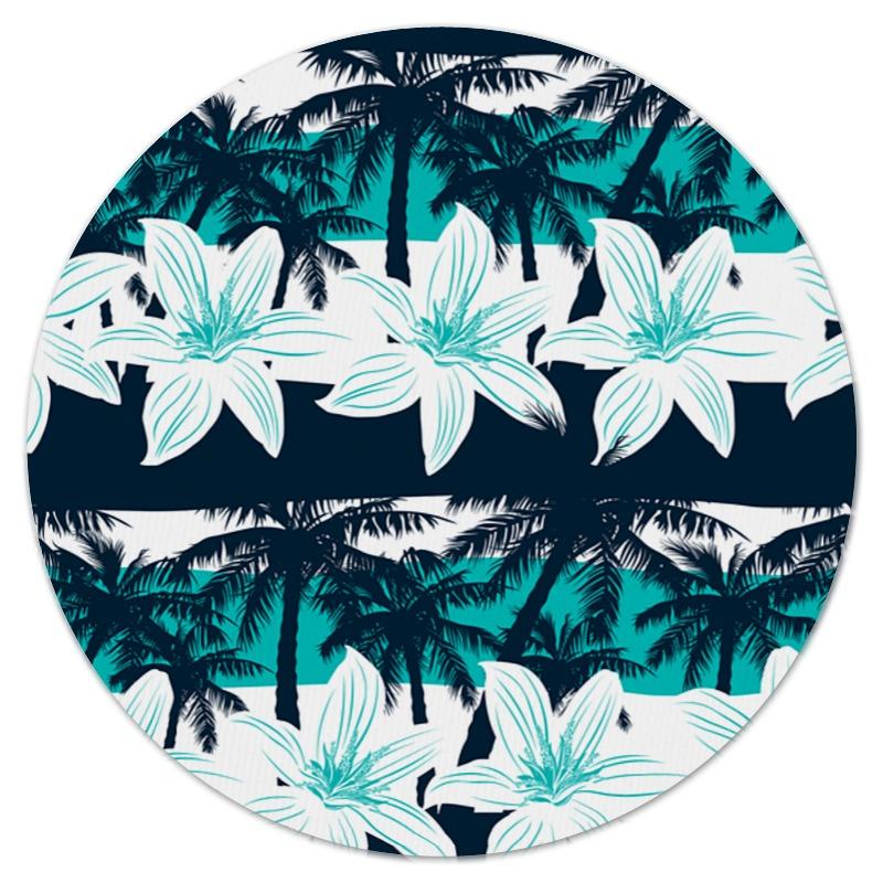Коврик для мышки (круглый) Printio Тропические цветы