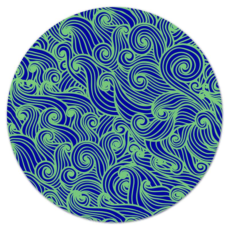 Коврик для мышки (круглый) Printio Морская волна
