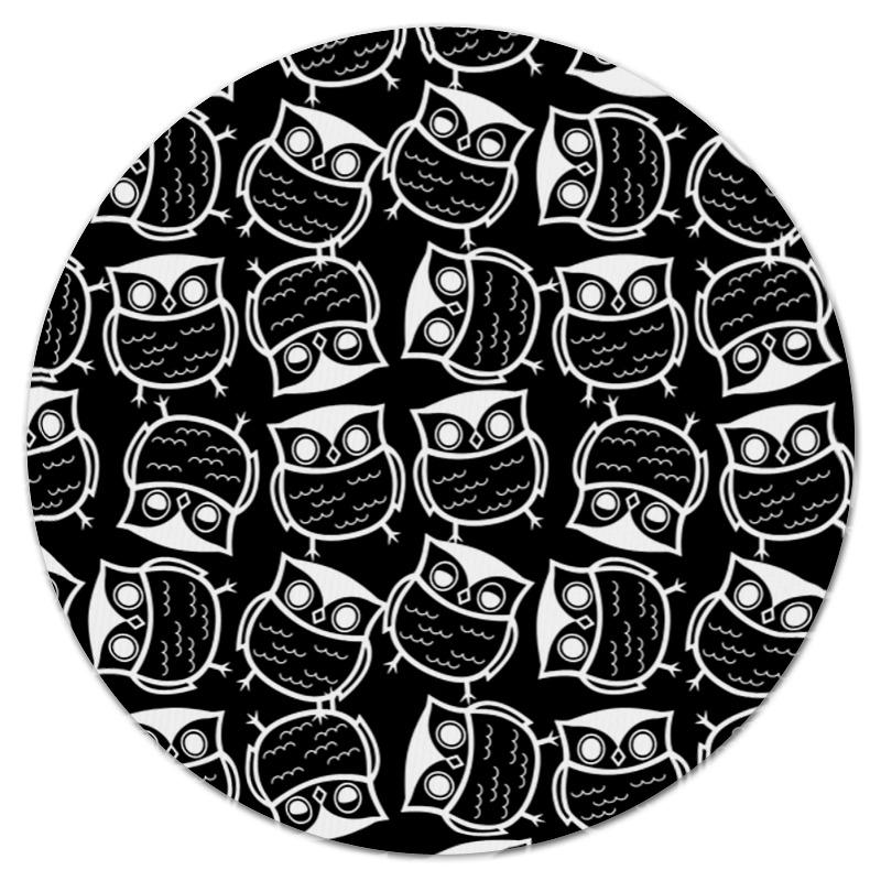 Коврик для мышки (круглый) Printio Совушки