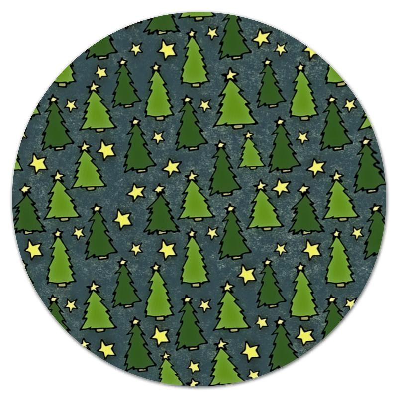 Коврик для мышки (круглый) Printio Новогодняя елка