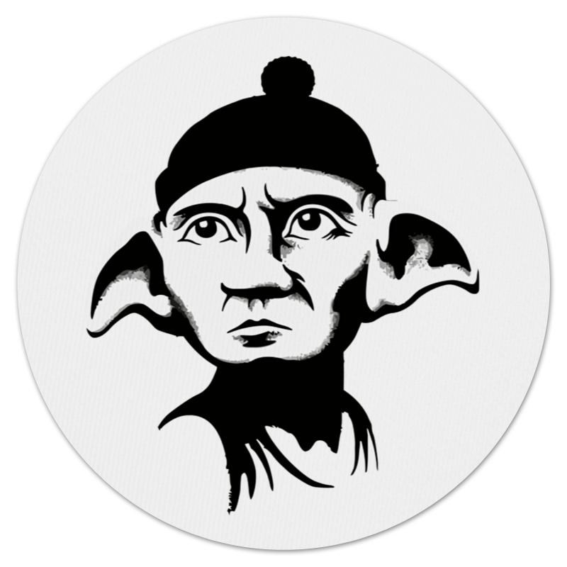Коврик для мышки (круглый) Printio Free gollum