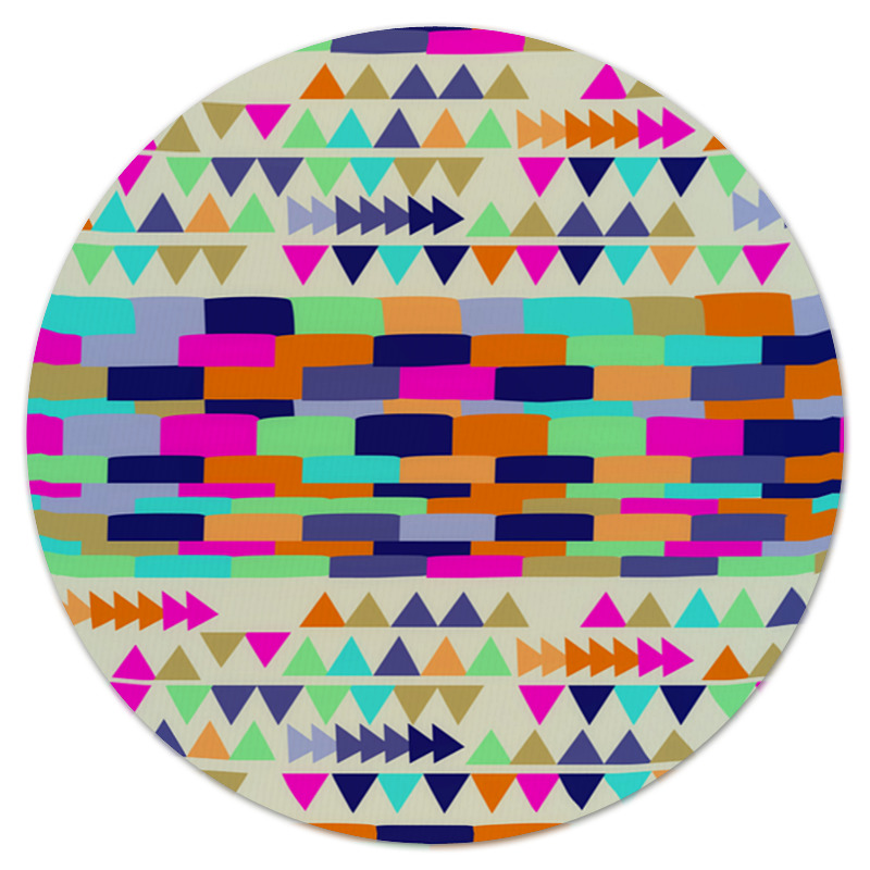 Коврик для мышки (круглый) Printio Графические узоры коврик для мышки круглый printio козел