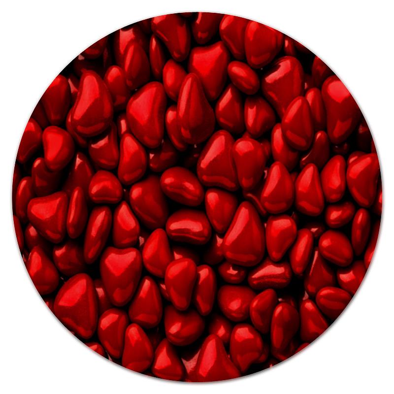 Коврик для мышки (круглый) Printio Множество сердец кулоны подвески медальоны sokolov 94030700 s