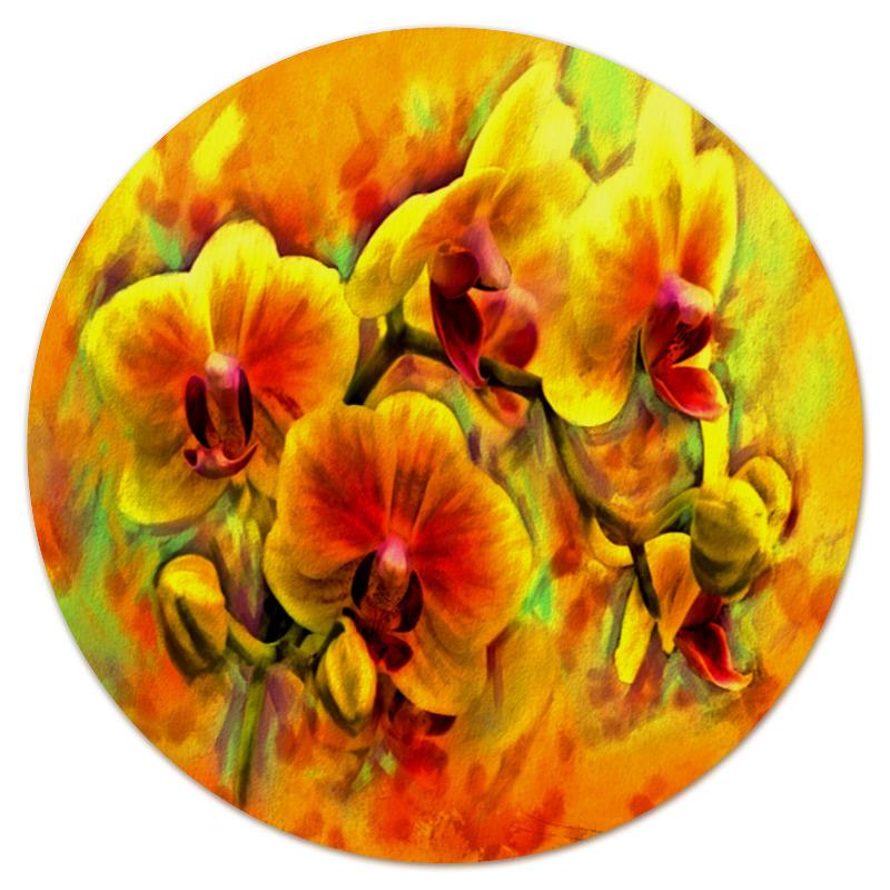 Коврик для мышки (круглый) Printio желтые цветы коврик для мышки круглый printio цветы фэнтези