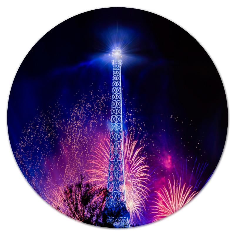 Коврик для мышки (круглый) Printio Эйфелева башня цена