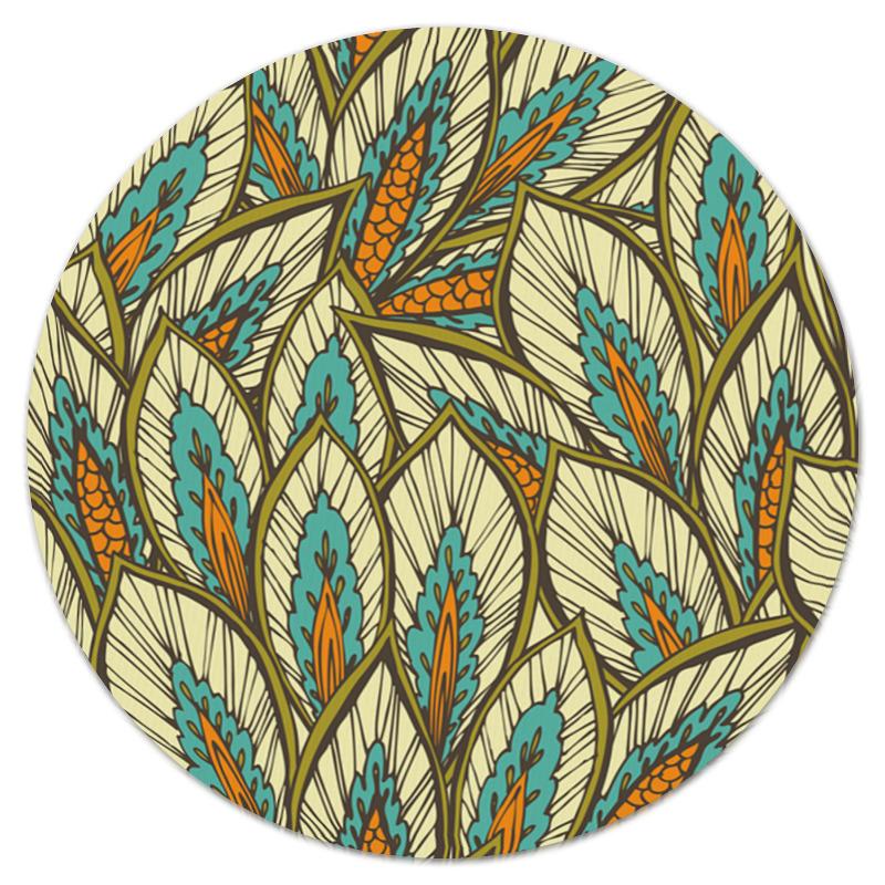 Коврик для мышки (круглый) Printio Узорные листы листы латуни