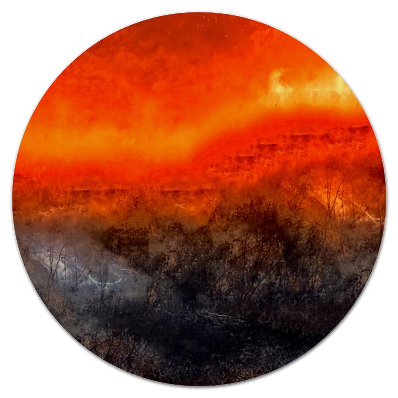 все цены на Коврик для мышки (круглый) Printio Оранжевый закат