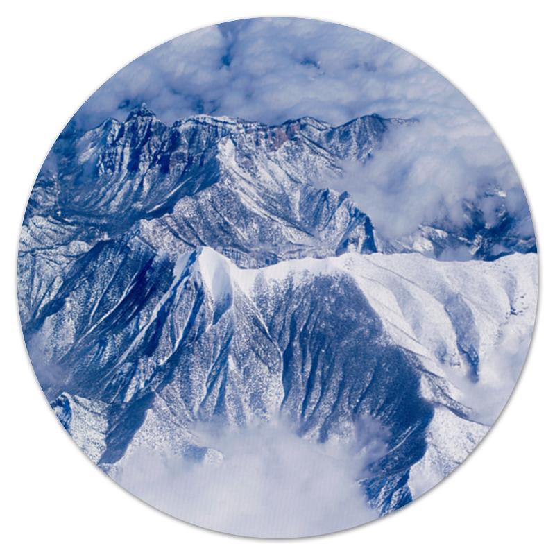 коврик для мышки круглый printio горы и лес Коврик для мышки (круглый) Printio Снежные горы