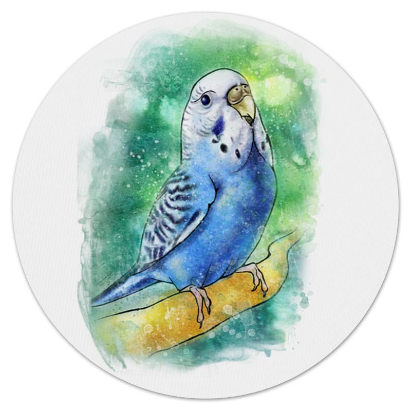 Коврик для мышки (круглый) Printio Волнистый попугайчик