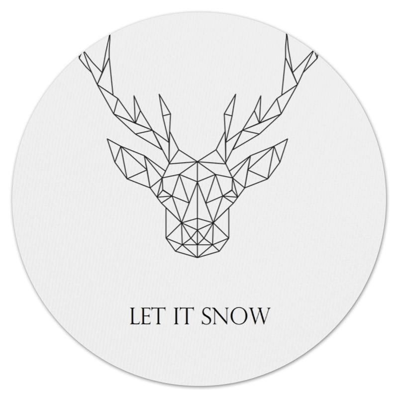 Коврик для мышки (круглый) Printio Dear deer