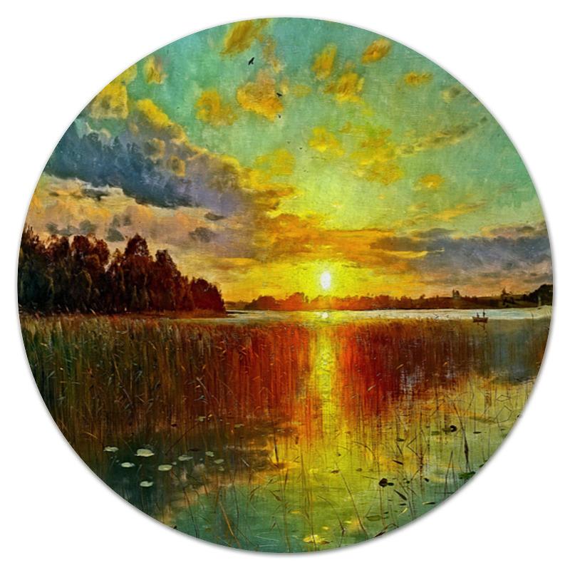 Printio Закат у озера коврик для мышки круглый printio закат солнца