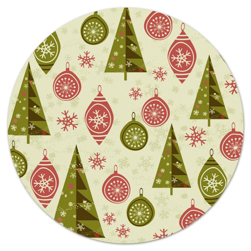 Коврик для мышки (круглый) Printio Елки и игрушки коврик для мышки printio снежные елки