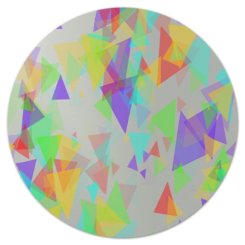 Коврик для мышки (круглый) Printio Треугольники