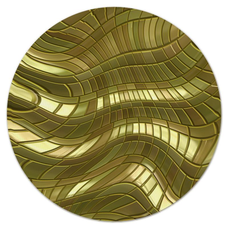 Коврик для мышки (круглый) Printio Золотые полосы