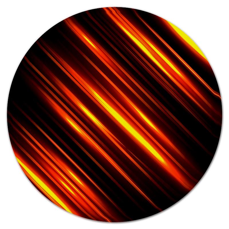 Коврик для мышки (круглый) Printio Золотые линии