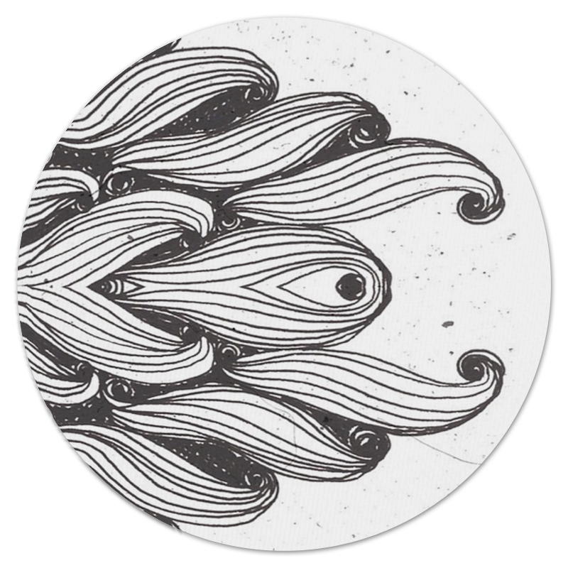 Коврик для мышки (круглый) Printio Волна