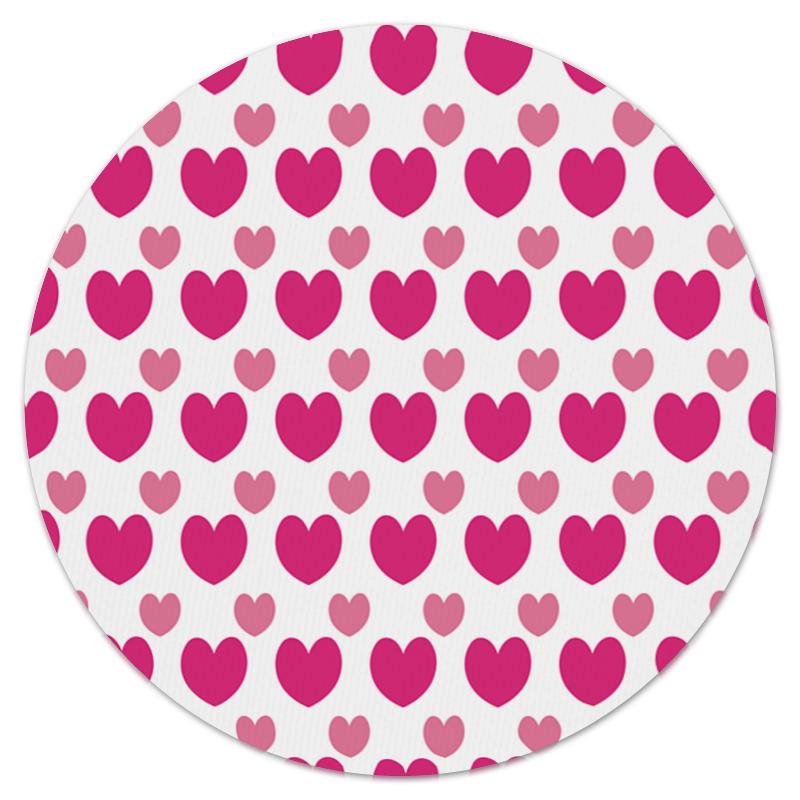 Коврик для мышки (круглый) Printio Розовые сердечки коврик для мышки круглый printio сердечки