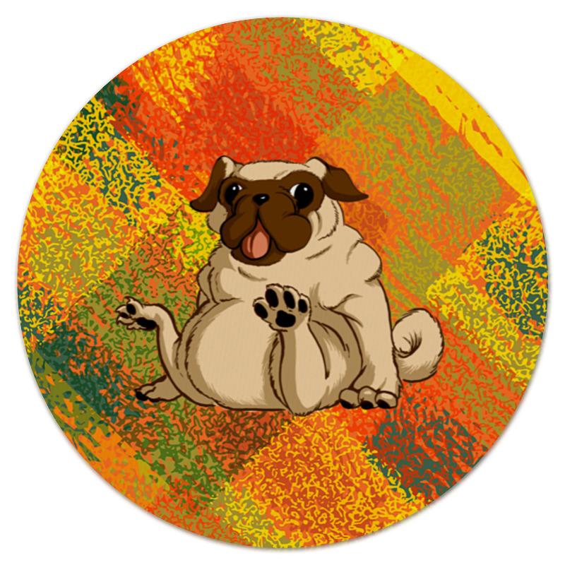 Коврик для мышки (круглый) Printio Смешной мопс