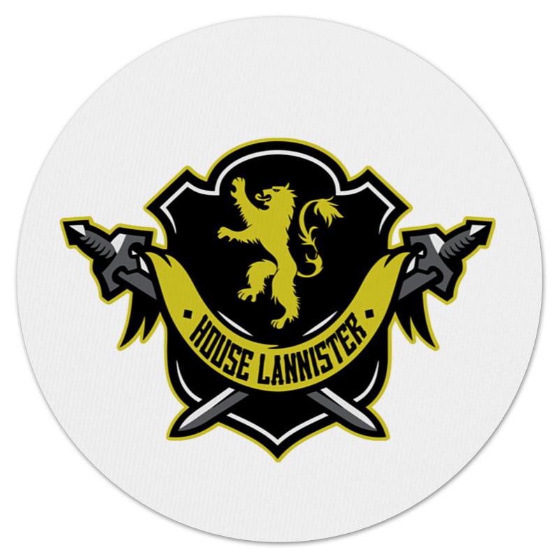 все цены на Коврик для мышки (круглый) Printio House lannister онлайн