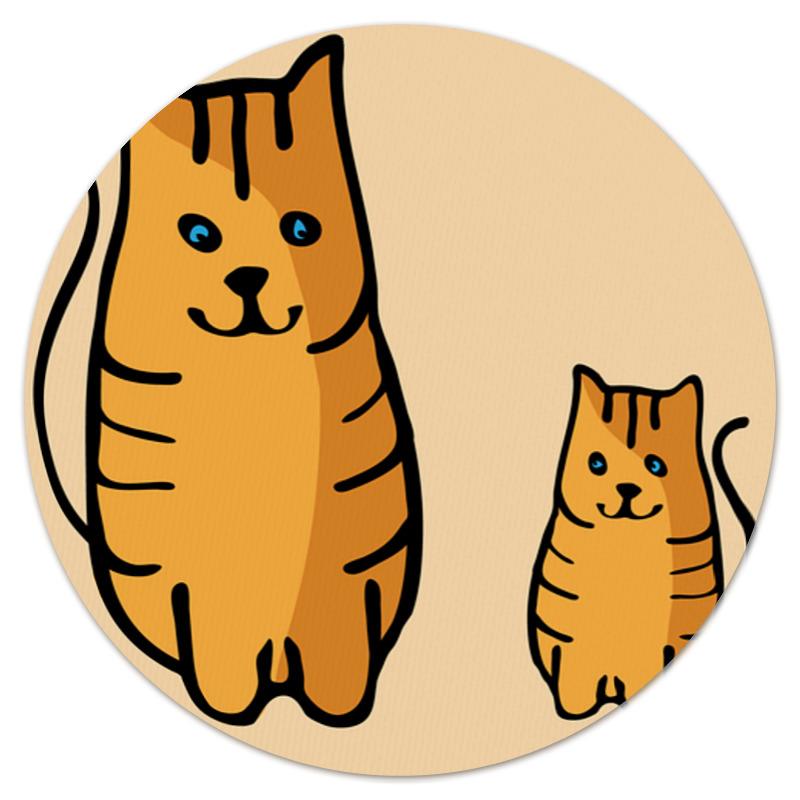 Коврик для мышки (круглый) Printio Два котика, смотрящие друг на друга цена