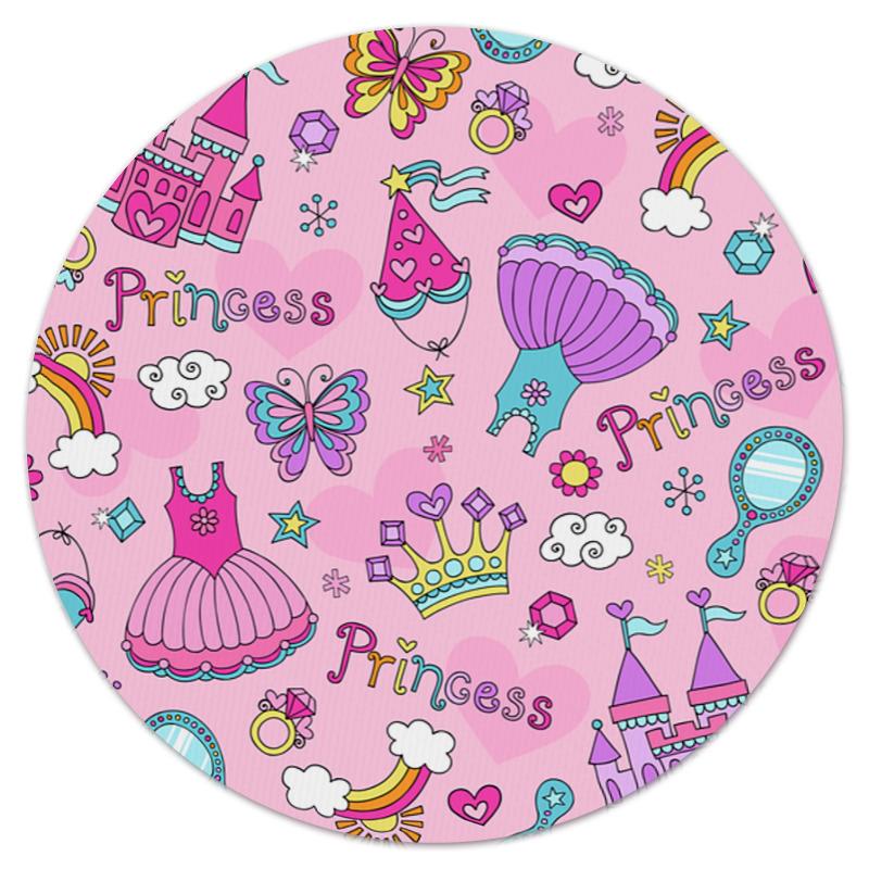 Коврик для мышки (круглый) Printio Принцесса обучающая книга азбукварик секреты маленькой принцессы 9785402000568