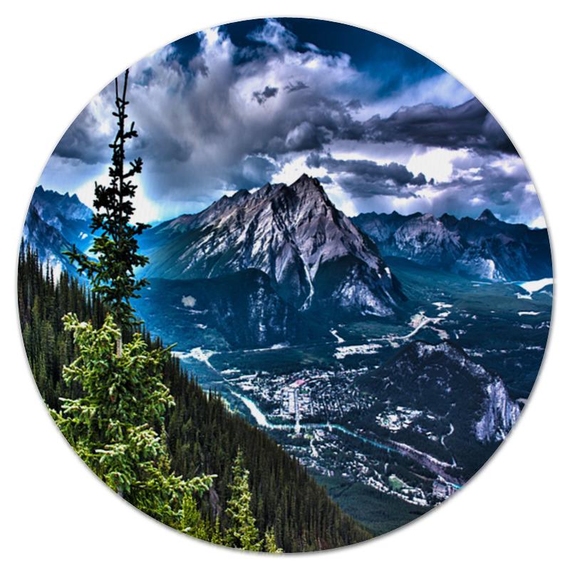 Коврик для мышки (круглый) Printio Тучи над горами максим михайлов тучи над боснией